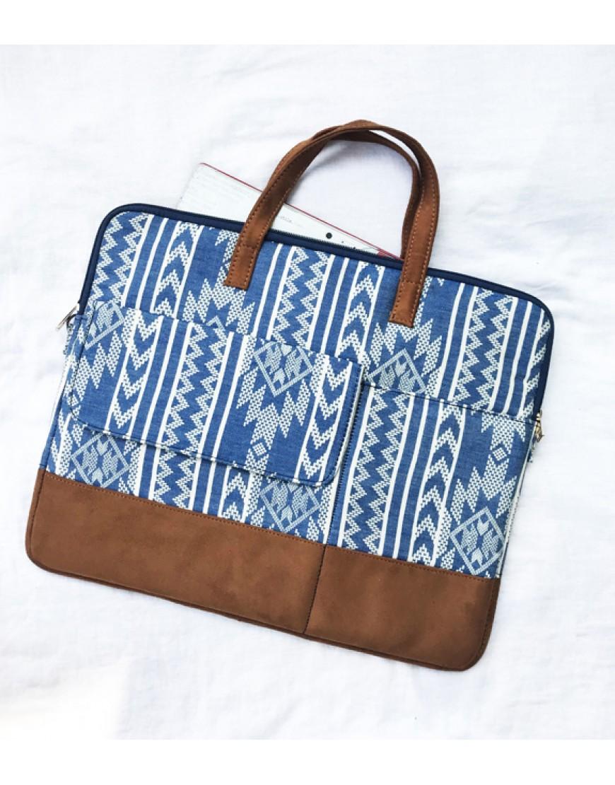 Blue Aztec laptop Sleeve