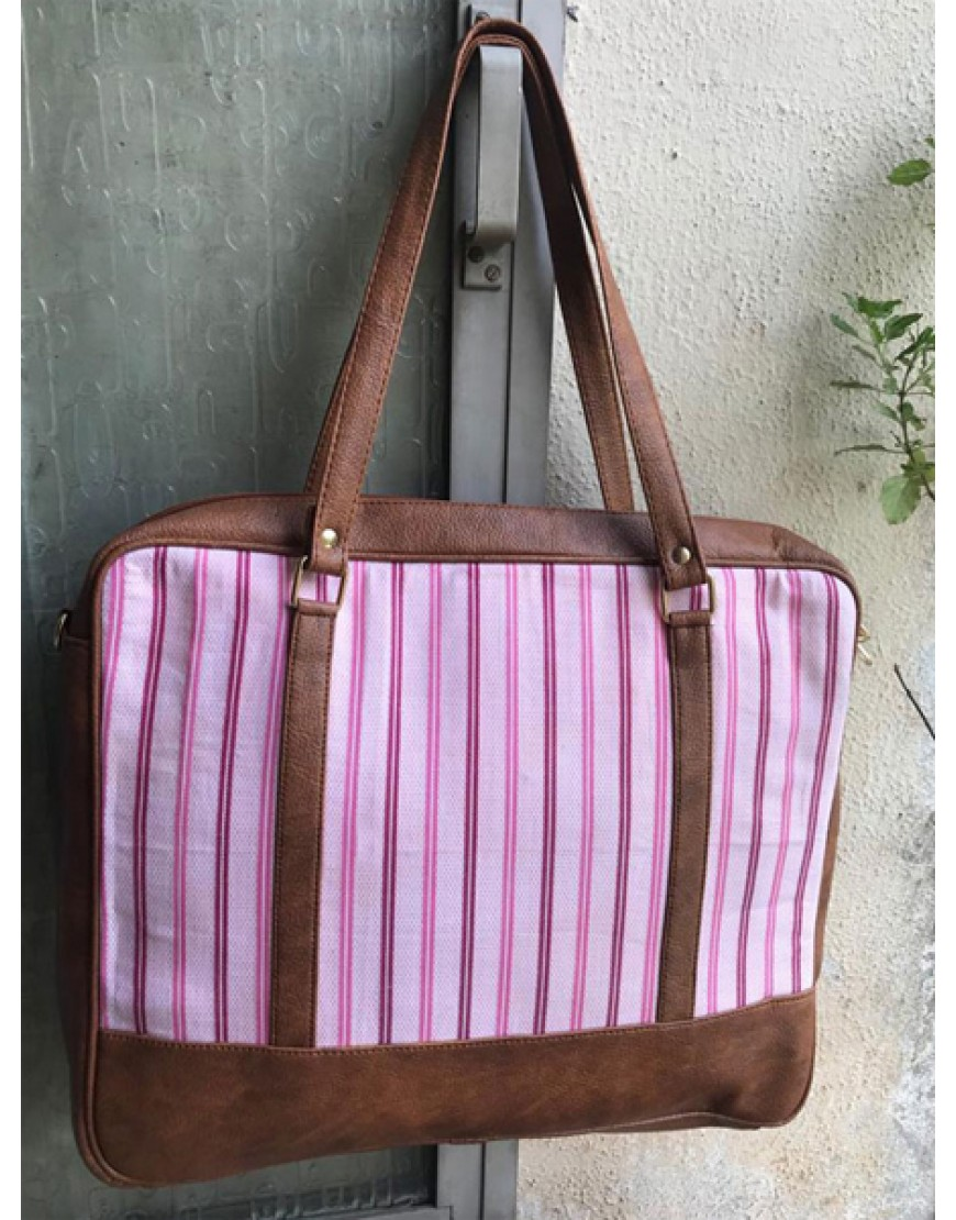 Laptop Bag (Pink Stripes)