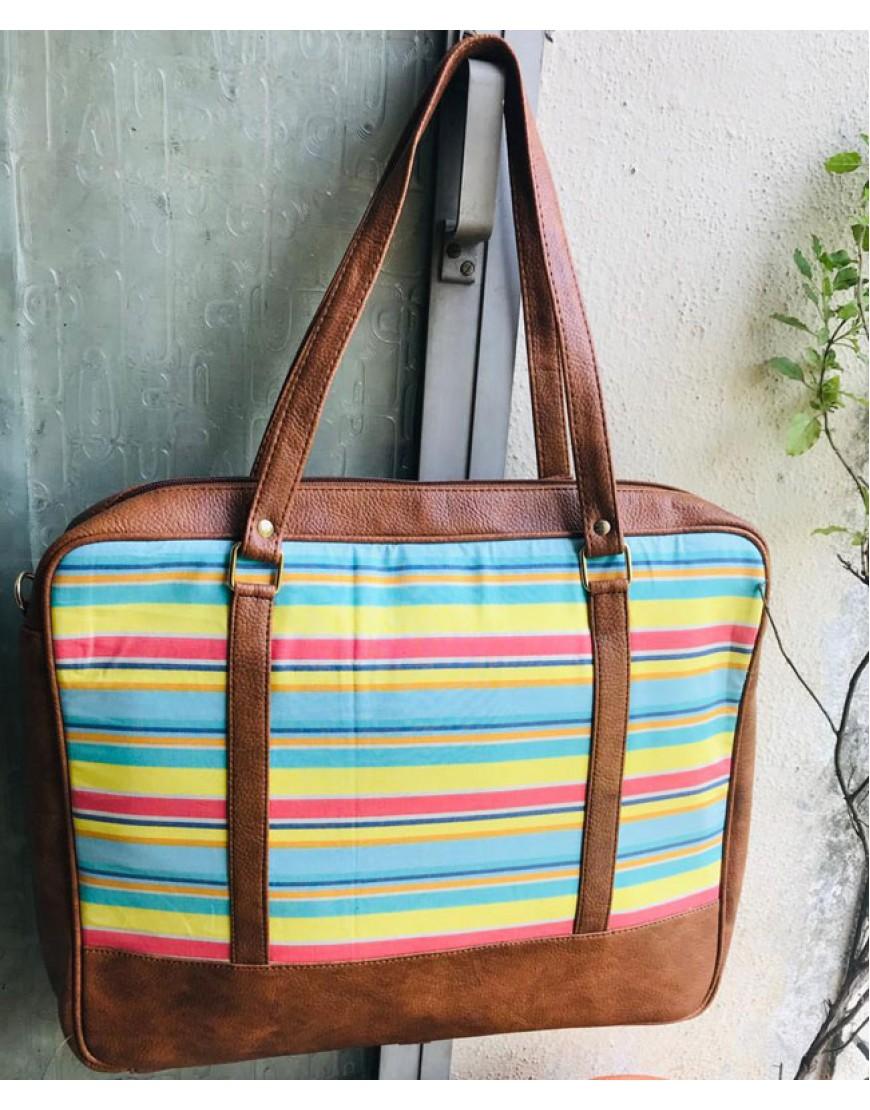 Laptop Bag (Multicolour Stripes)