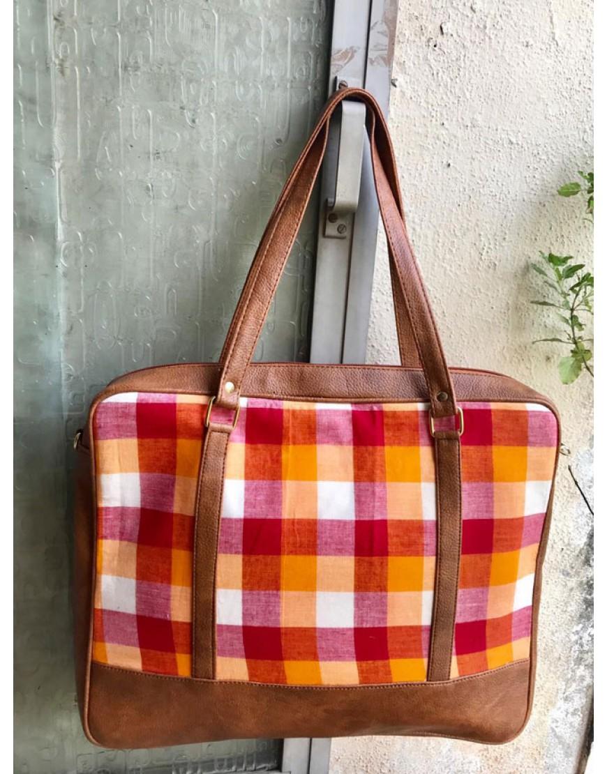 Laptop Bag (orange Checks)