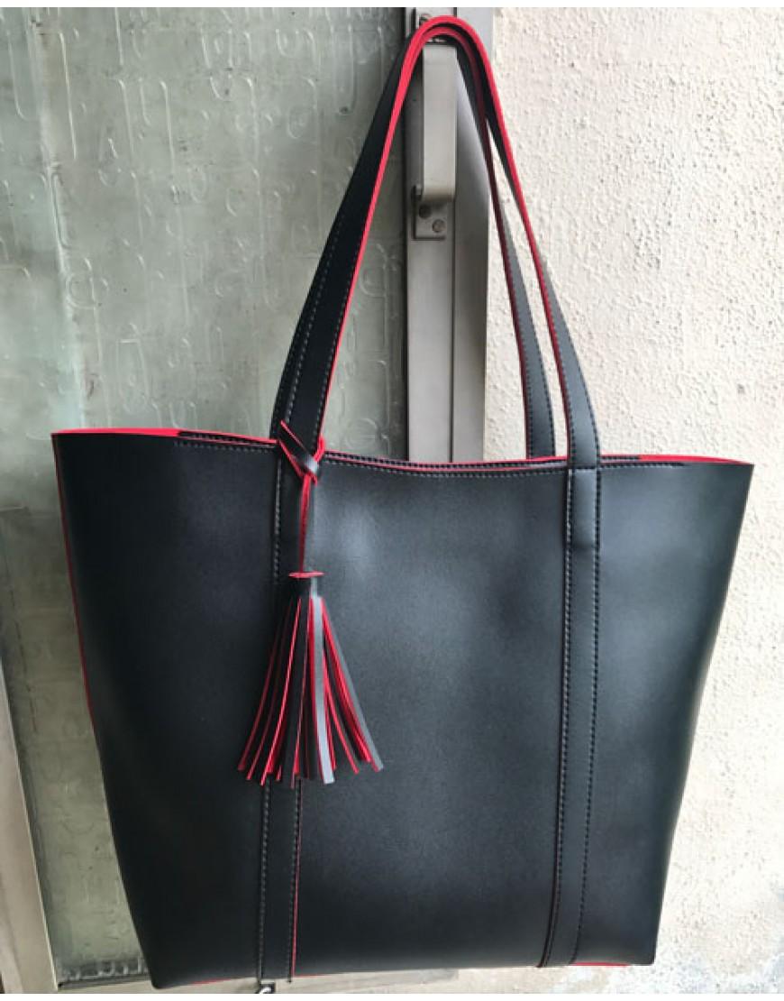 Black Two Tone Tote bag